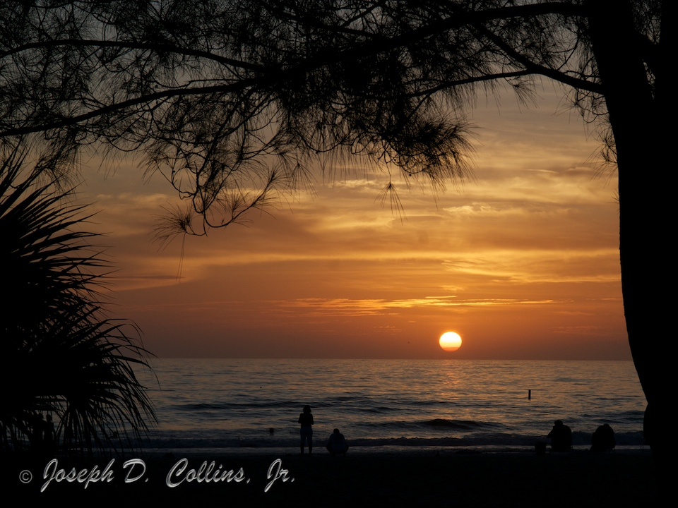 A Gulf of Mexico Sunset at Holmes Beach, Florida